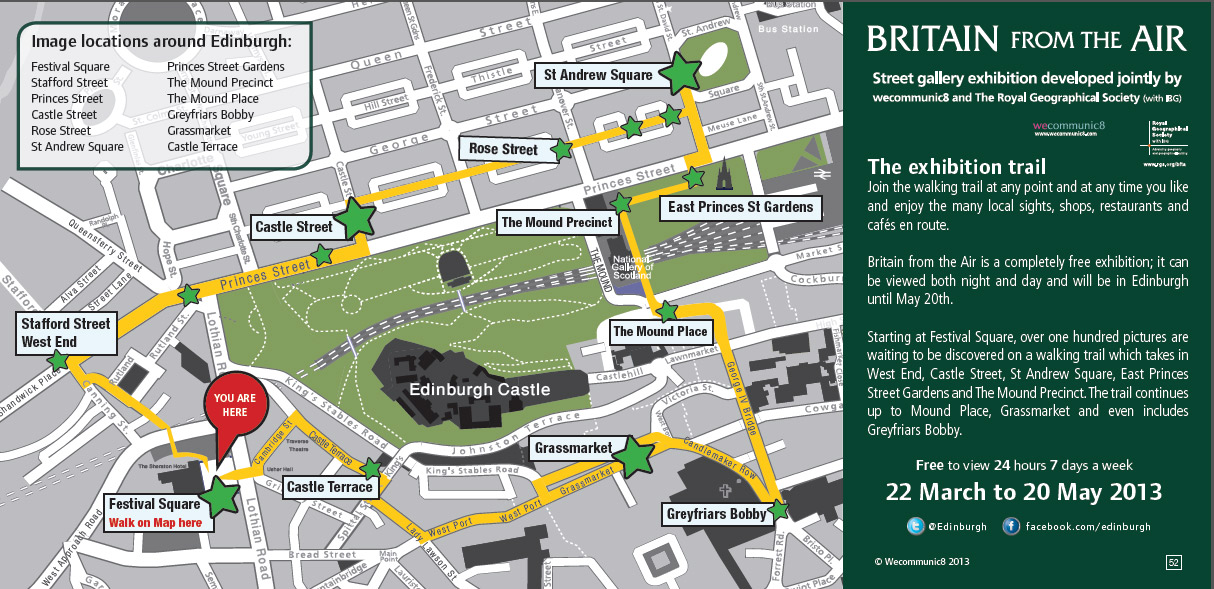 Britain from the Air in Edinburgh - exhibition trail